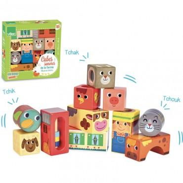 Cubes sonores de la ferme - Vilac - Trésors d'Enfance à Rodez