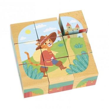 Cubes en bois : Les contes - Vilac - Trésors d'Enfance à Rodez