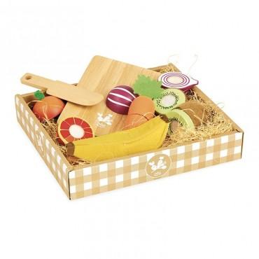 Fruits et légumes en bois à découper - Vilac - Trésors d'Enfance à Rodez
