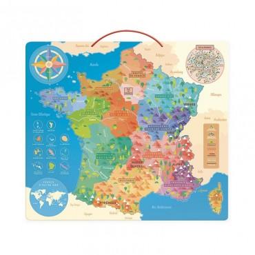 Carte Magnétique de la France éducative - Vilac - Trésors d'Enfance à Rodez