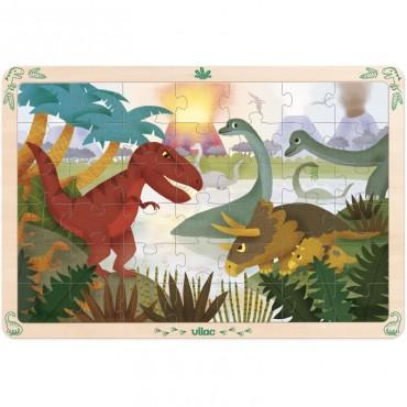 Puzzle en bois 42 pièces : Dinosaures - Vilac - Trésors d'Enfance - Rodez