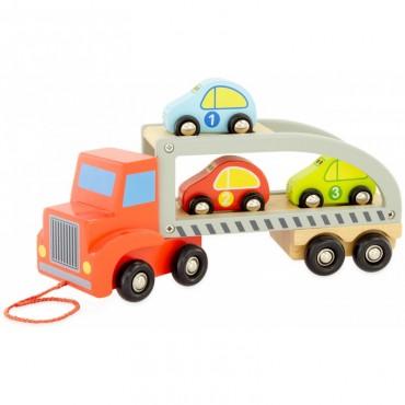 Camion porte-voiture en bois - Ulysse - Trésors d'Enfance à Rodez