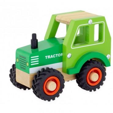 Tracteur vert en bois - Ulysse - Trésors d'Enfance à Rodez