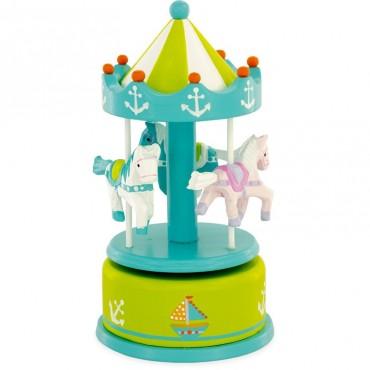 Carrousel : Vert PM - Ulysse Couleurs d'Enfance - Trésors d'Enfance à Rodez-jeux-jouets-enfants-bébés-cadeau-bote à musique