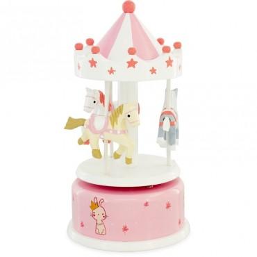 Carrousel : Rose PM - Ulysse Couleurs d'Enfance - Trésors d'Enfance à Rodez-boite à musique-bébés-enfants-cadeau-jeux-jouets-