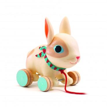 Jouet à tirer : Colin le lapin - Djeco - Trésors d'Enfance à Rodez
