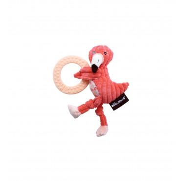 Jouet à mâchouiller Flamingos  - Les Déglingos - Trésors d'Enfance à Rodez