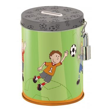 Tirelire en métal Footballeur - Sigikid - Trésors d'Enfance à Rodez
