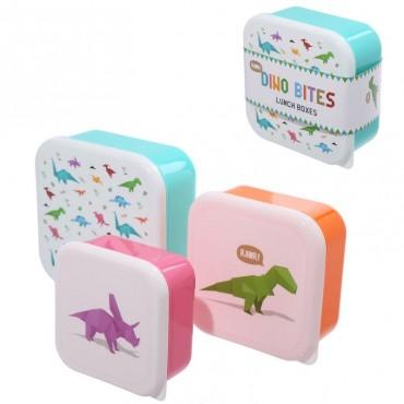 Lot de 3 boîtes à Goûter Dinosaure