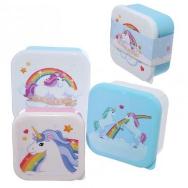 Lot de 3 boîtes à Goûter Licorne - Trésors d'Enfance à Rodez