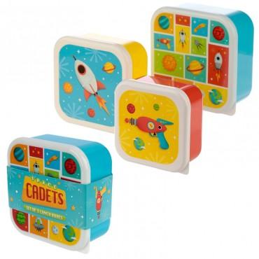 Lot de 3 boîtes à Goûter Espace - Trésors d'Enfance à Rodez
