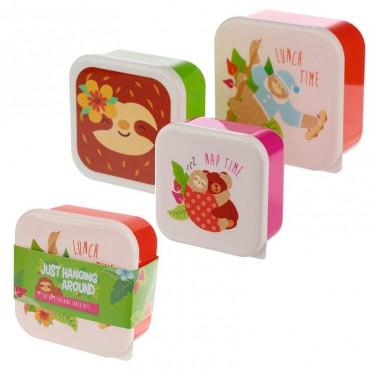 Lot de 3 boîtes à Goûter Paresseux  - Trésors d'Enfance à Rodez