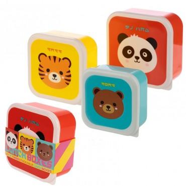 Lot de 3 boîtes à Goûter Animaux - Trésors d'Enfance à Rodez