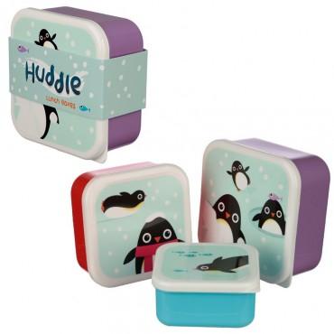 Lot de 3 boîtes à Goûter Pingouin - Trésors d'Enfance à Rodez