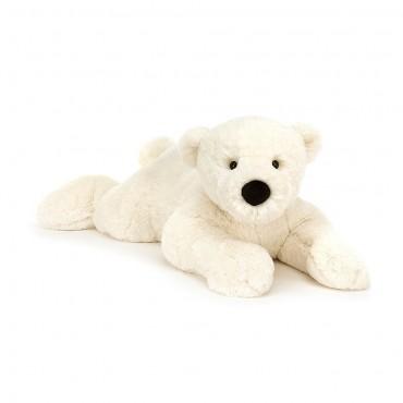 Peluche Ours Polaire 68 cm : Perry Polar Bear Lying  - Jellycat - Trésors d'Enfance à Rodez