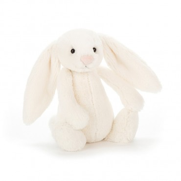 Peluche Lapin : Small Bashful Cream Bunny - Jellycat Trésors d'Enfance à Rodez