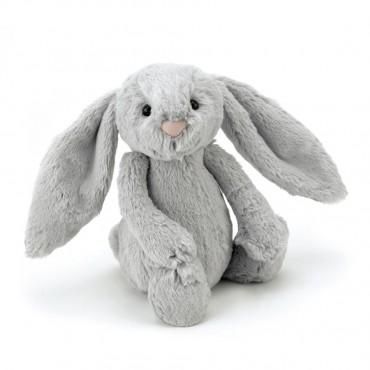 Peluche Lapin 31 cm - Bashful Silver Bunny - Jellycat - Trésors d'Enfance à Rodez