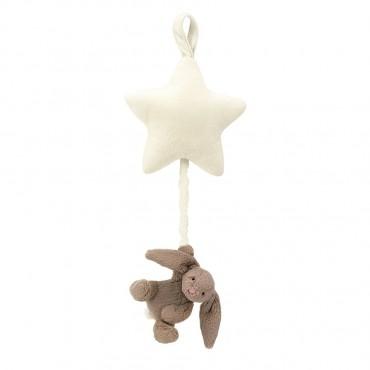 Bashful Beige Bunny Star Musical Pull - Jellycat - Trésors d'Enfance à Rodez