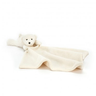 Shooshu Perry Polar Bear Soother - Jellycat - Trésors d'Enfance Rodez
