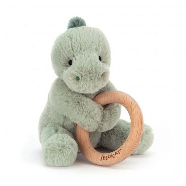 Shooshu Dino Wooden Ring Toy - Jellycat - Trésors d'Enfance à Rodez