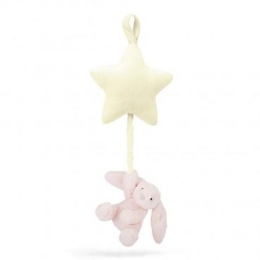 Bashful Pink Bunny Star Musical Pull - Jellycat - Trésors d'Enfance à Rodez