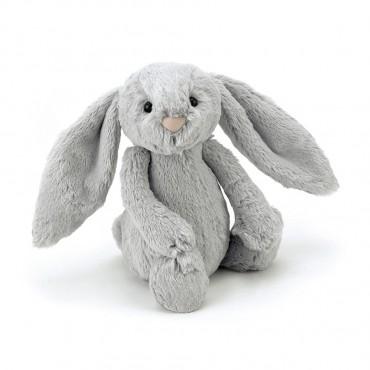 Peluche Lapin : Small Silver Bashful Bunny - Jellycat Trésors d'Enfance à Rodez