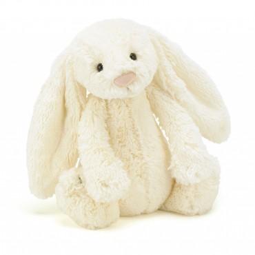 Peluche Lapin 31 cm - Bashful Cream Bunny - Jellycat - Trésors d'Enfance à Rodez