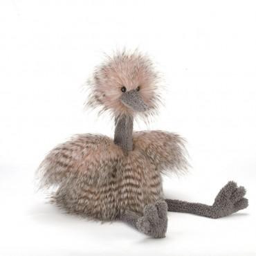 Peluche Autruche 49 cm : Odette Ostrich - Jellycat - Trésors d'Endance à Rodez