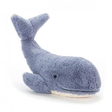 Peluche Baleine : Wilbur Whale - Jellycat - Trésors d'Enfance à Rodez