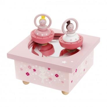 Boîte à Musique Magnétique : Ballerine Rose - Trousselier - Trésors d'Enfance à Rodez