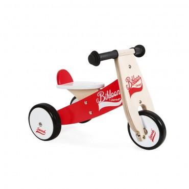 Porteur Little Bikloon Rouge et Blanc - Janod - Trésors d'Enfance à Rodez -jeux-jouets-bébé-enfant