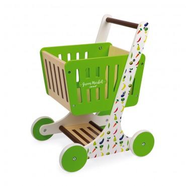 Chariot de courses Green Market en Bois - Janod - Trésors d'Enfance à Rodez