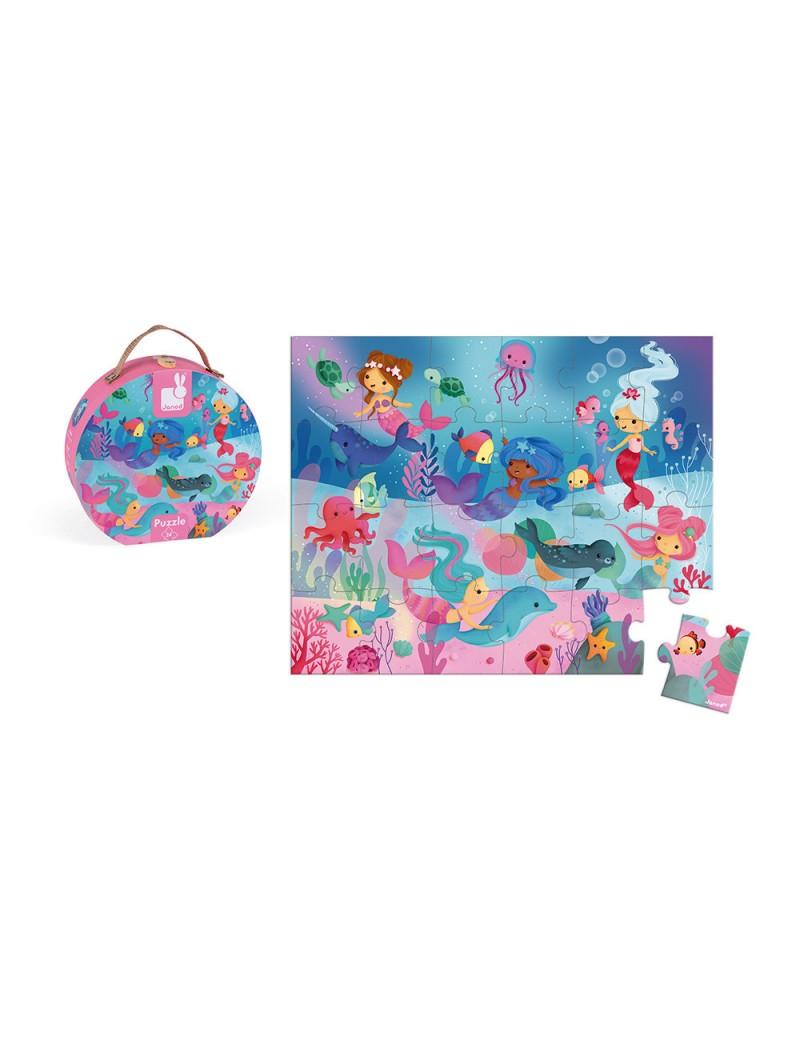 Valisette Puzzle Sirène 24 pcs - Janod - Trésors d'Enfance à Rodez