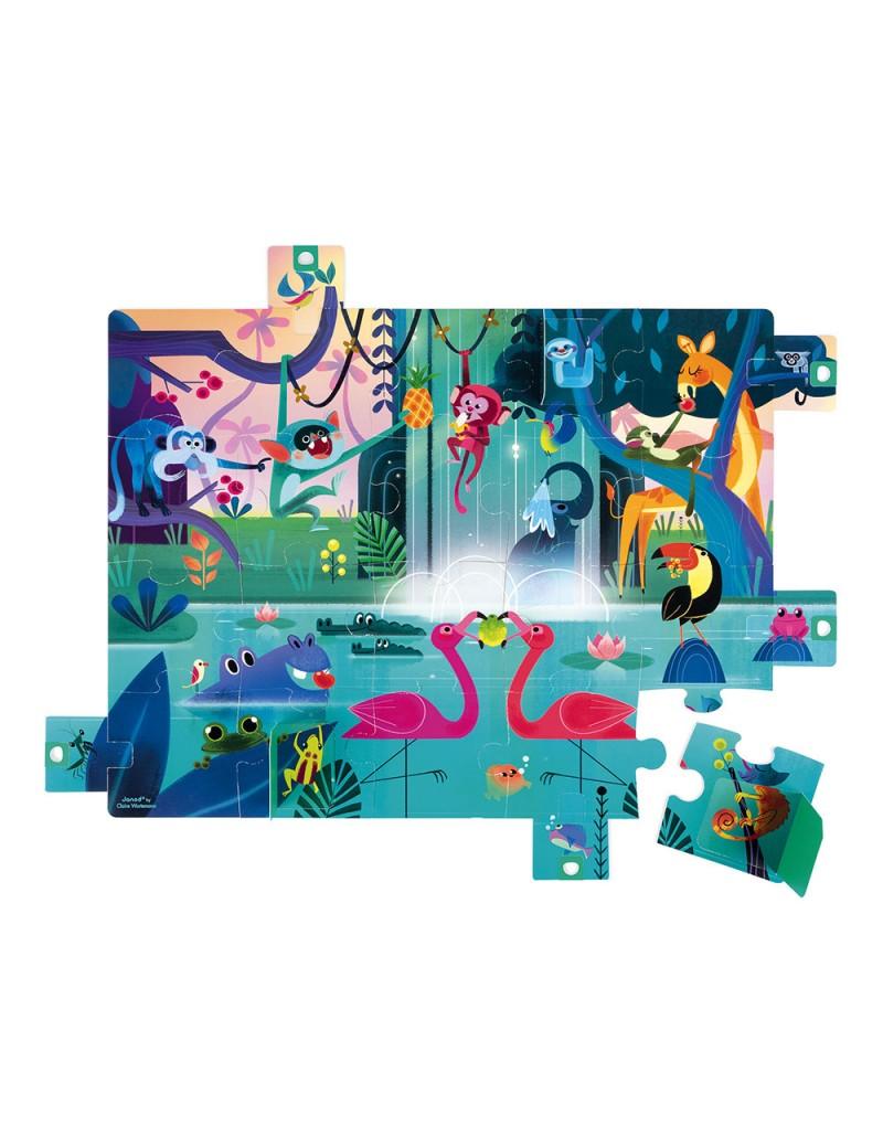 Puzzle surprise Festin dans la Jungle 20 pcs - Janod - Trésors d'Enfance à Rodez