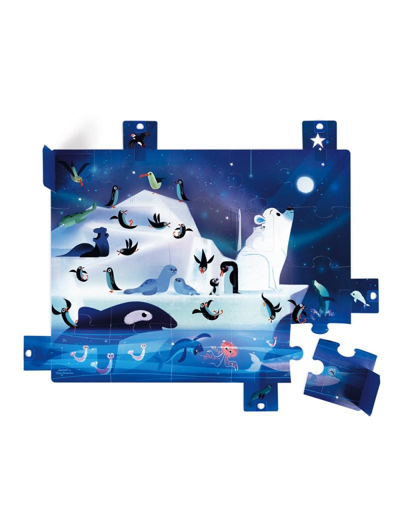 Puzzle surprise A la belle étoile 20 pcs - Janod - Trésors d'Enfance à Rodez