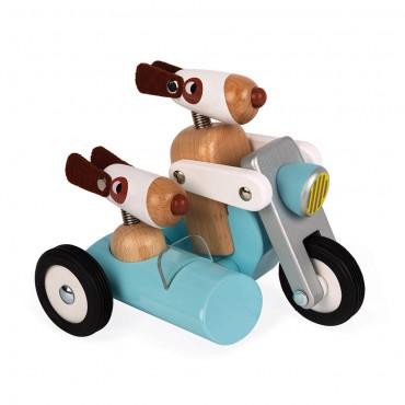 Spirit Sidecar Philip, Side-car en bois - Janod - Trésors d'Enfance à Rodez