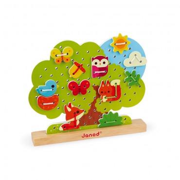 Arbre à lacer en bois : Janod - Trésors d'Enfance à Rodez