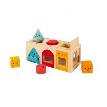 Boite à formes Géométriques en bois - Janod - Trésors d'enfance à Rodez