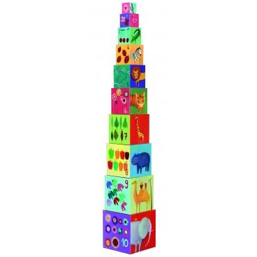 Cubes gigognes : Nature et animaux - Djeco - Trésors d'Enfance à Rodez