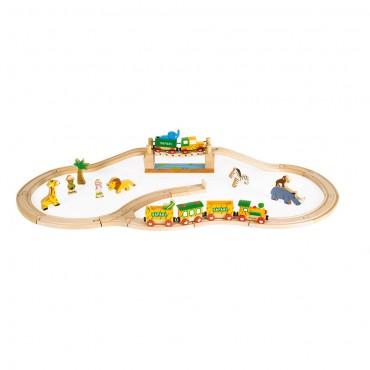 Circuit de train en bois : Story Express - Janod - Trésors d'Enfance à Rodez
