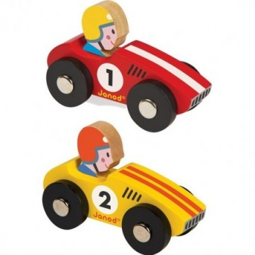 Voiture en bois : Story Racing - Janod - Trésors d'Enfance à Rodez