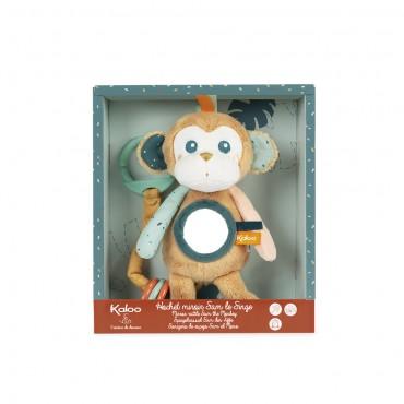 Hochet miroir Sam le singe - Kaloo - Trésors d'Enfance à Rodez