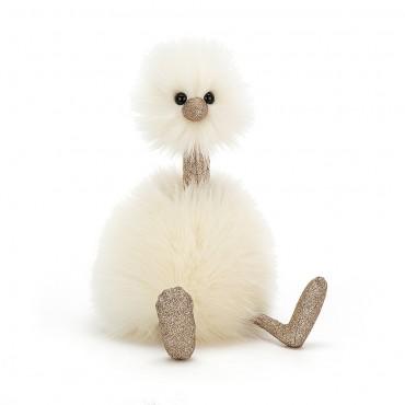 Peluche Autruche Pompon 33 cm : Pompom Glimmer - Jellycat - Trésors d'Enfance à Rodez-peluche bébé-peluche anfant-peluche adulte