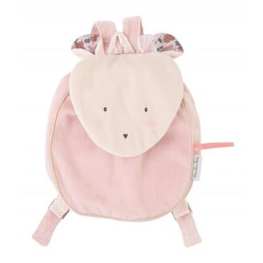 Sac à Dos souris - Il était une fois - Moulin Roty - Trésors d'Enfance à Rodez - jouets-bébé-jeux-enfant-sac a dos fille-