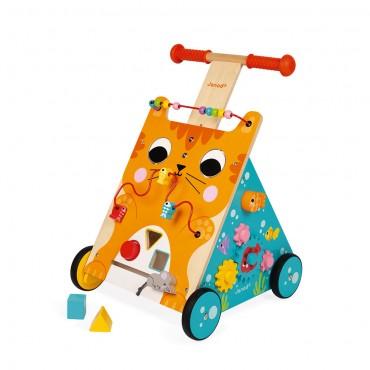 Chariot multi-activités Chat - Janod - Trésors d'Enfance à Rodez-bébé