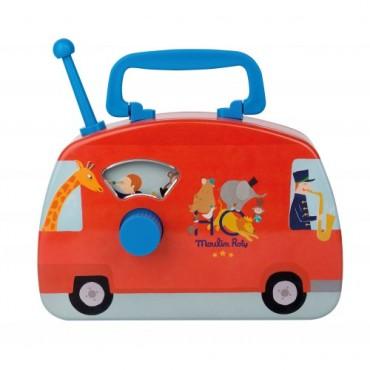 Boite à musique : Bus Musical - Moulin Roty - Trésors d'Enfance à Rodez-bébé-enfant-cadeau