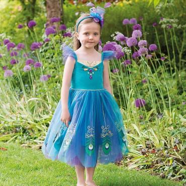 Déguisement Princesse Paon 6/8 ans - Travis Design - Trésors d'Enfance à Rodez-jeux-jouets